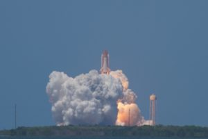Shuttle clearing the tower
