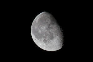 The moon at 400mm
