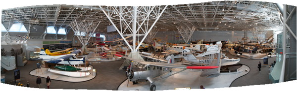 Panorama of the Canadian Aviation and Space Museum