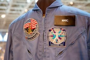 Captain Marc Garneau's flight suit