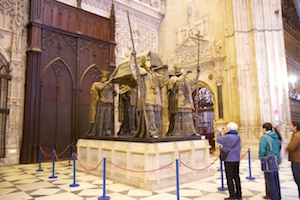 The catafalque of Christopher Columbus