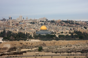 The Dome of the Rock, the location of the First and Second Temple and the Church of the Holy Sepulchre