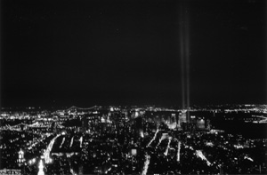 WTC Memorial Lights from the Empire State Building