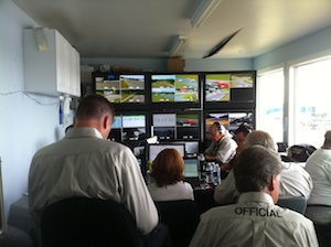 Crowded Mosport control tower