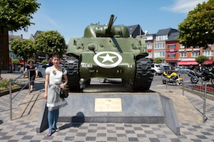 M-4 Sherman tank in Bastogne