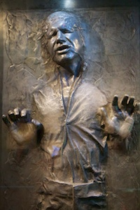 Han Solo encased in carbonite