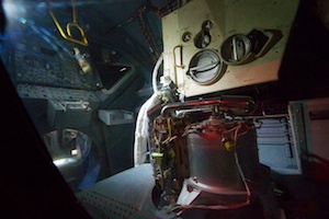 Interior of the Lunar Module