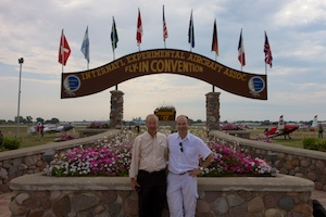 Dad and I at the famous Oshkosh arch.