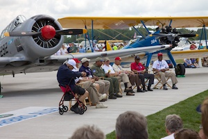 Members of the Tuskegee Airmen.