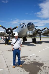 Dad in front of the B-17 Aluminum Overcast.