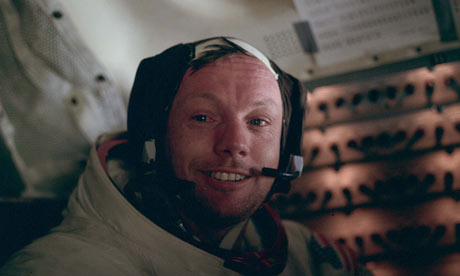 Neil Armstrong in the LEM after the lunar EVA