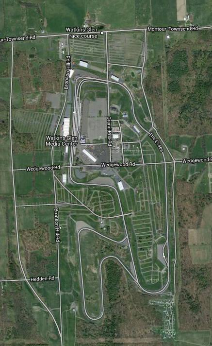 Watkins Glen track map