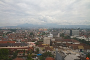 The view of the southern part of Bandung, as seen from my window at the Hilton.