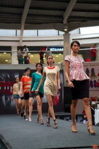 Weekly fashion show at Citos (Town Square) mall.